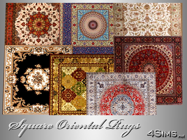 Square Oriental Rugs Set Of 7 For Sims 3 4sims