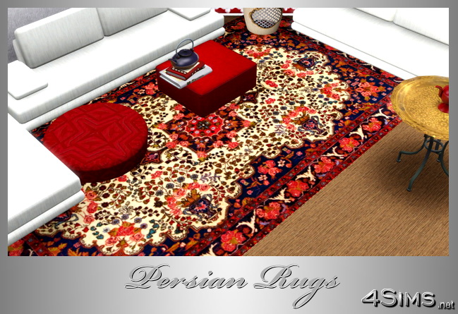 Persian rugs set of 5 unique designs for Sims 3 by 4Sims