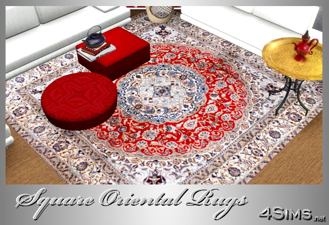Square Oriental Rugs set of 7 for Sims 3 by 4Sims