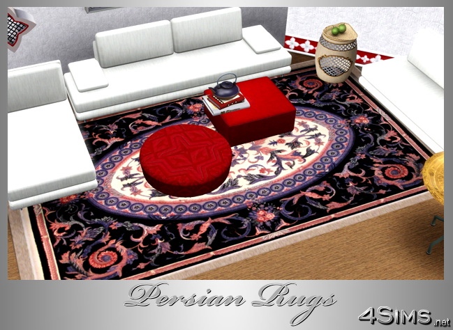 Central medallion persian rugs collection for Sims 3 by 4Sims