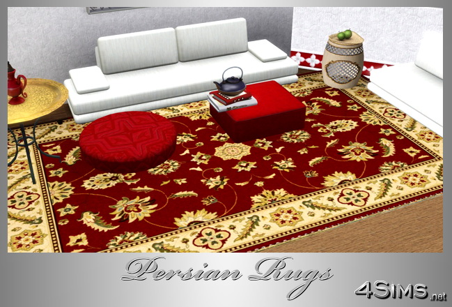 Persian Oriental Rugs set of 5 for Sims 3 by 4Sims