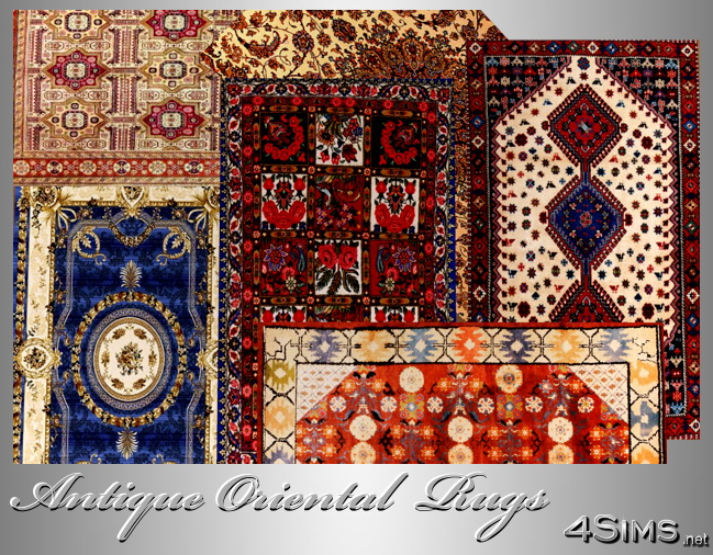 Oriental Antique Rugs, set of 6 for Sims 3 by 4Sims