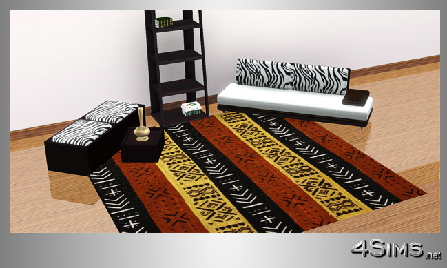 African square rugs set, 5 styles included for Sims 3 by 4Sims