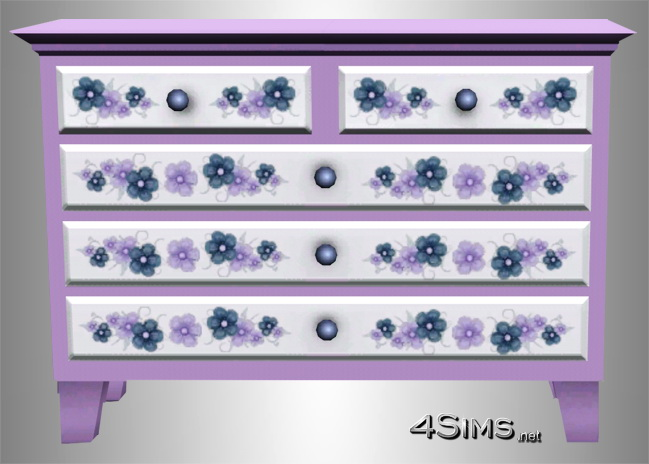 Flower painted dresser for Sims 3 by 4Sims