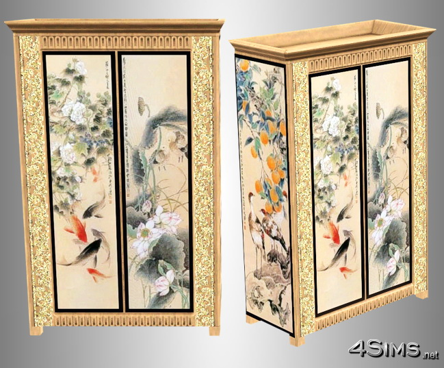 Chinese painted dresser for Sims 3 by 4Sims