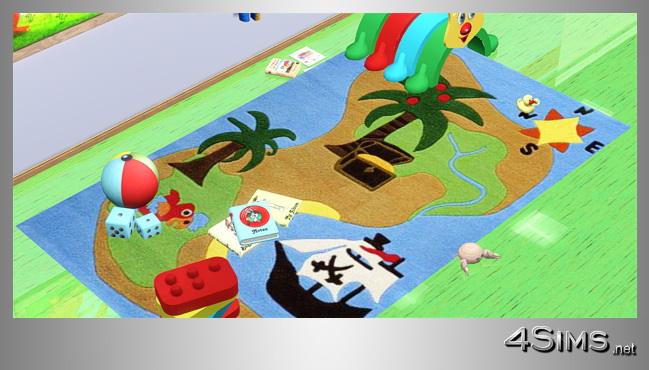Rugs for kids, 5 styles for Sims 3 by 4Sims