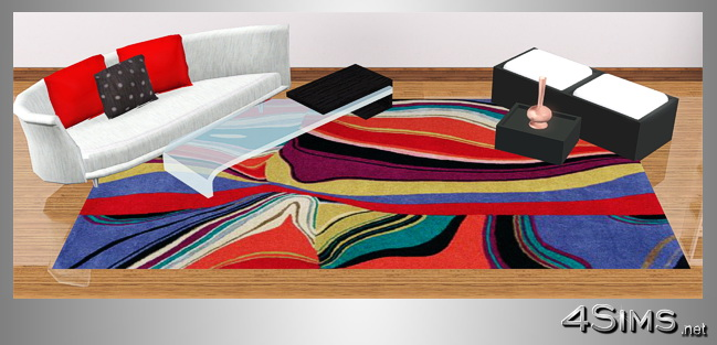 Designer colorful modern rugs in 5 contemporary styles for Sims 3 by 4Sims