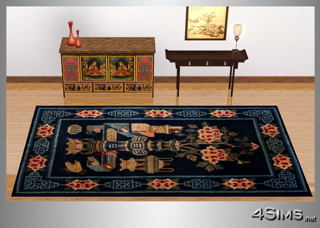 Antique chinese rugs collection, 5 designs included for Sims 3 by 4Sims