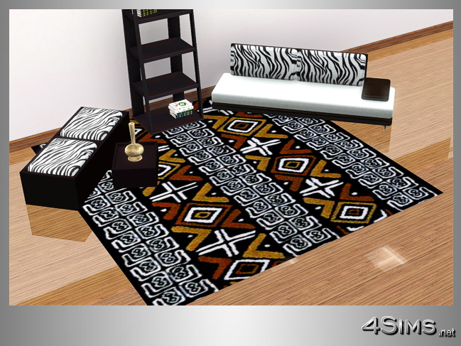 Square African rugs, set with 5 items for Sims 3 by 4Sims