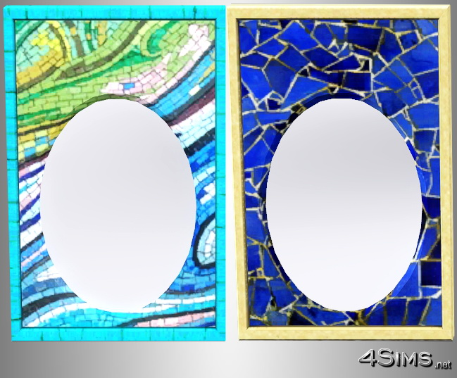 Mosaic framed mirrors, set of 4 for Sims 3 by 4Sims
