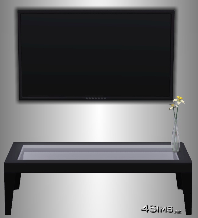 Performant plasma wall TV for Sims 3 by 4Sims
