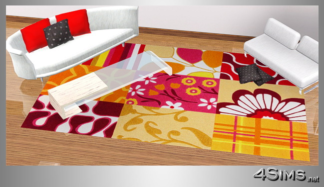 Modern colorful and patchwork rugs for Sims 3 by 4Sims