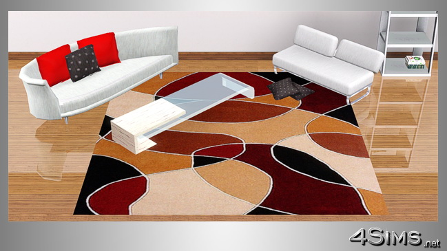 Square modern rugs in 5 contemporary designs for Sims 3 by 4Sims