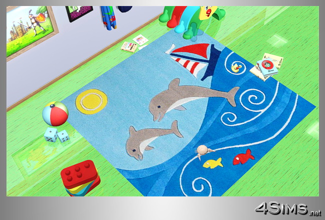 Square rugs for kids room in 5 designs for Sims 3 by 4Sims