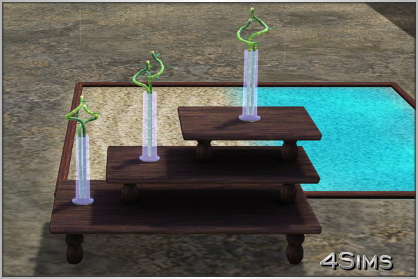 Lucky bamboo with vase for Sims 3 by 4Sims