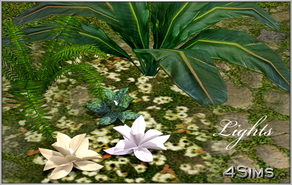 Lotus lamp   Sims 3 lighting for Sims 3 by 4Sims