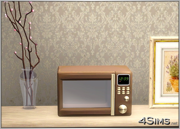 Stylish microwaves oven for Sims 3 by 4Sims