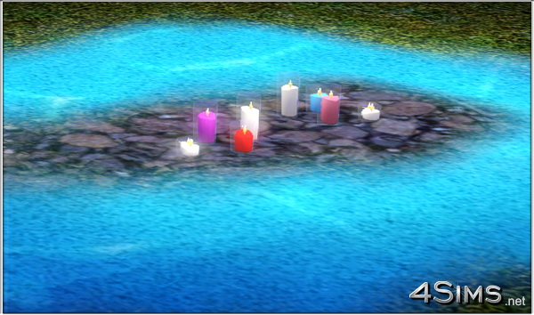 Romantic candles group for Sims 3 by 4Sims