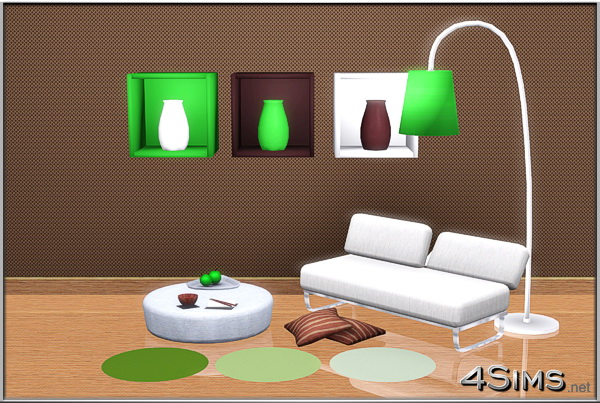 Arria wall decor boxes plus floor lamp for Sims 3 by 4Sims