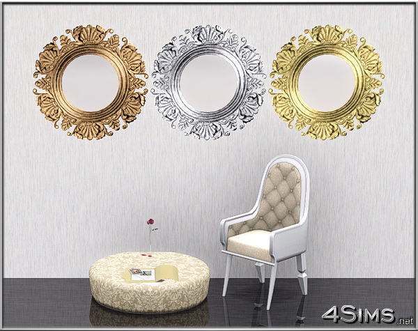 Round mirrors set of 3 for Sims 3 by 4Sims