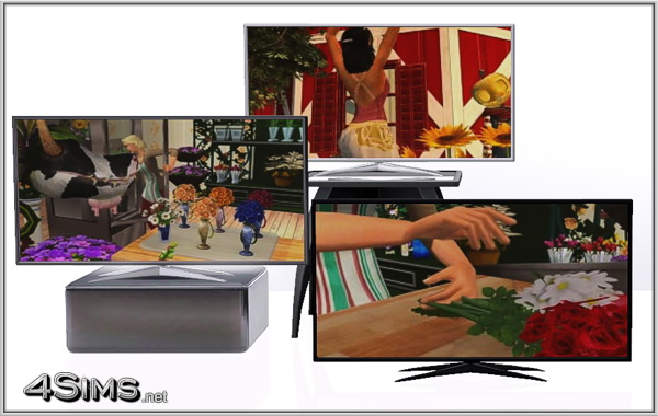 Smart OLED TV placeable anywhere for Sims 3 by 4Sims