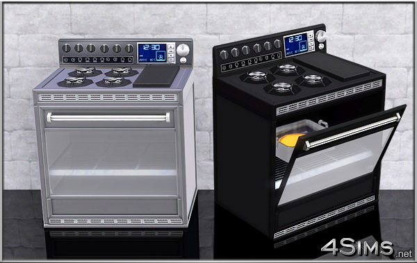 Professional gas range for Sims 3 by 4Sims