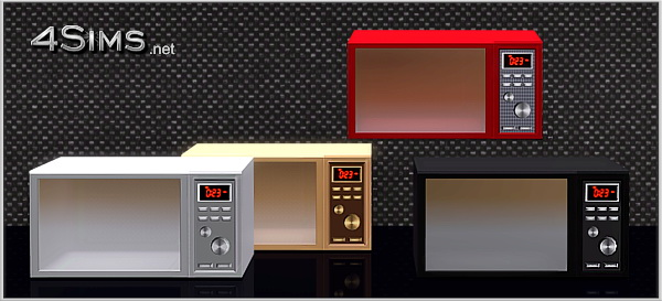 Premium microwave oven for Sims 3 by 4Sims