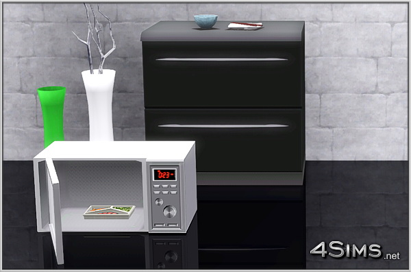A new premium microwave oven for a sims 3 high class for Sims 4 meuble a telecharger