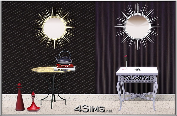 Sun themed mirrors set for Sims 3 by 4Sims