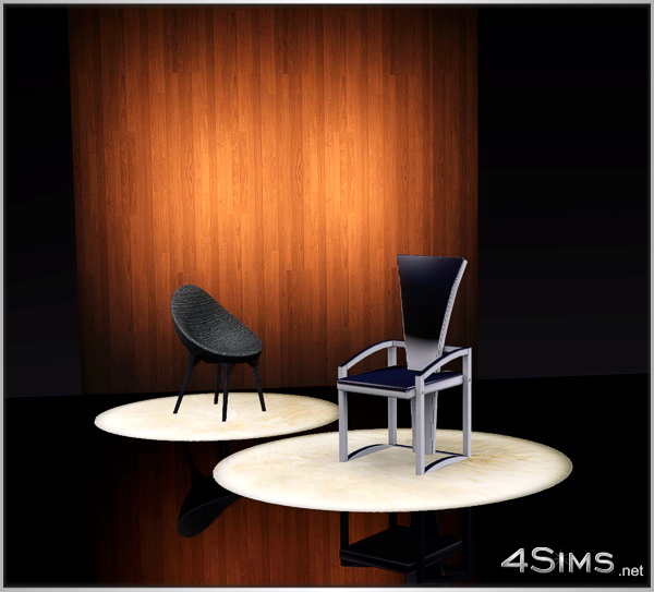Wood wall panels, illuminated backgrounds for interior decorations for Sims 3 by 4Sims