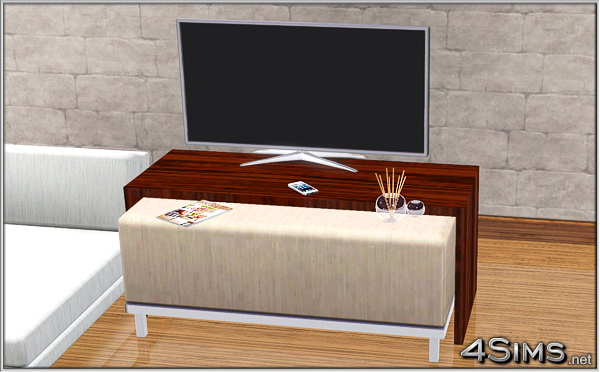 Coffee table and glass vase with aromatic incense sticks for Sims 3 by 4Sims
