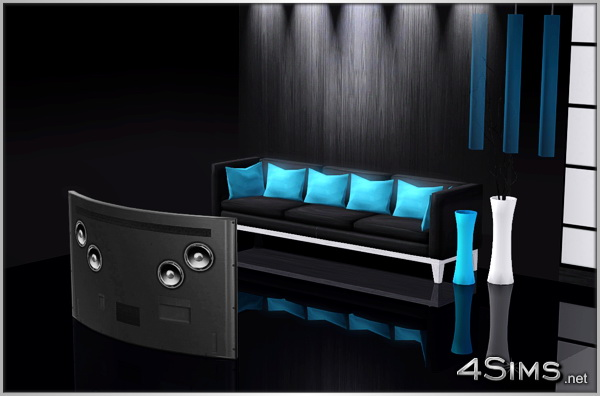 Curved OLED TV for Sims 3 by 4Sims
