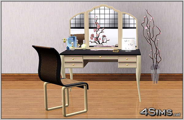 MakeUp Vanity plus Curved Chair for Sims 3 by 4Sims
