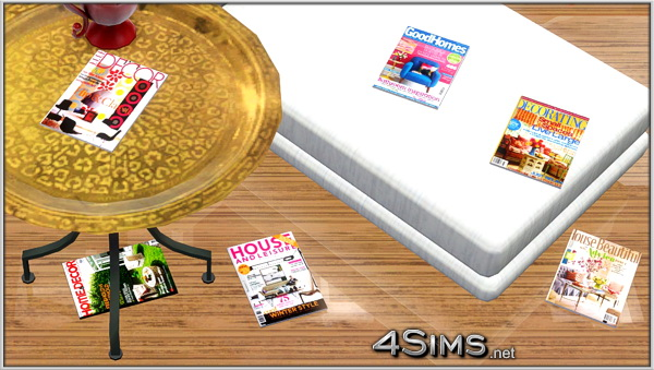 Home & Decor magazines clutter for Sims 3 by 4Sims