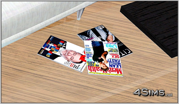 Fashion and Lifestyle magazines decor clutter for Sims 3 by 4Sims