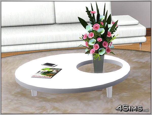 2 Round coffee tables for Sims 3 by 4Sims