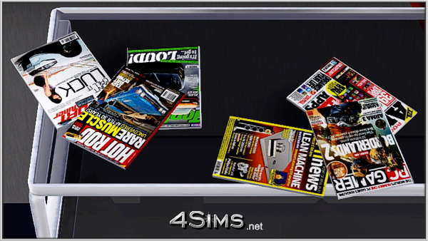 Home Amp Decor Cars Tech Magazines Clutter Set For Sims 3