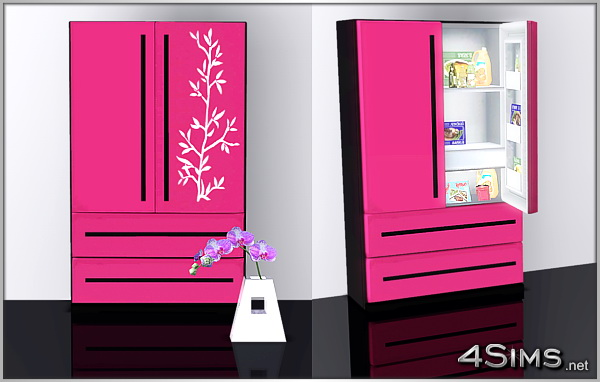 4 Door French Door Refrigerator for Sims 3 by 4Sims