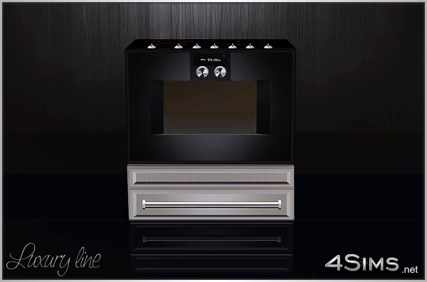 Luxury ceramic top stove for Sims 3 by 4Sims