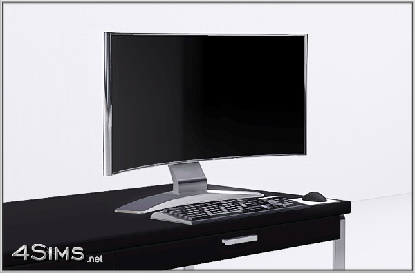 Curved Monitor PC for Sims 3 by 4Sims