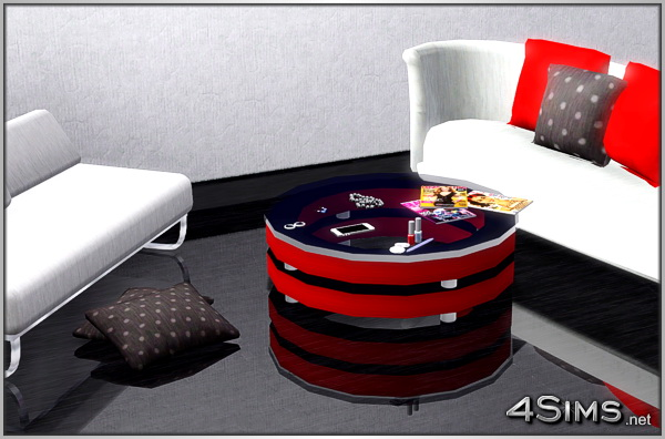 Round glass coffee table for Sims 3 by 4Sims
