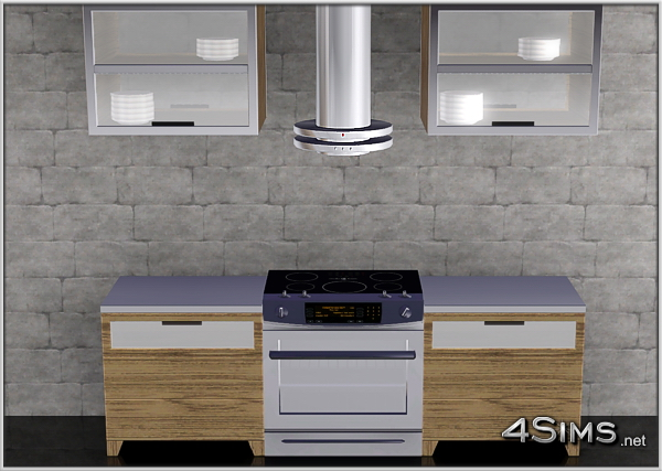 Kitchen hood with fire alarm function for Sims 3 by 4Sims