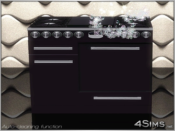 Dual fuel gas range, professional stove line for Sims 3 by 4Sims