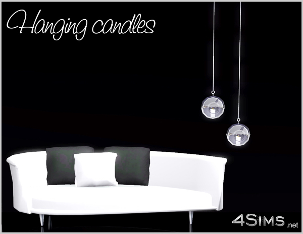 Glass hanging balls with candles  for Sims 3 by 4Sims