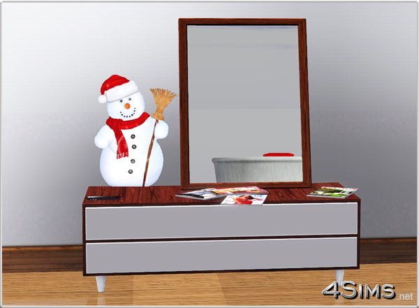 5 Snowman wall stickers for Sims 3 by 4Sims