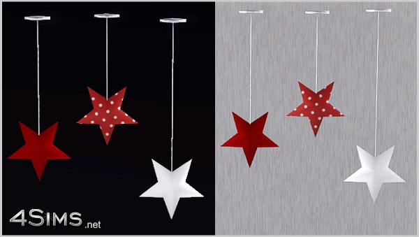 3 Stars Hanging Ceiling Light For Sims 3 4sims