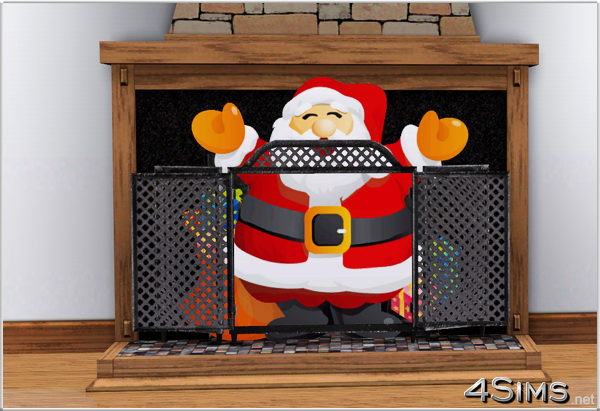 6 Santa Claus wall decals for Sims 3 by 4Sims