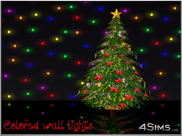 Wall Led Lights 2 Styles Colored And Recolorable 4 Sims
