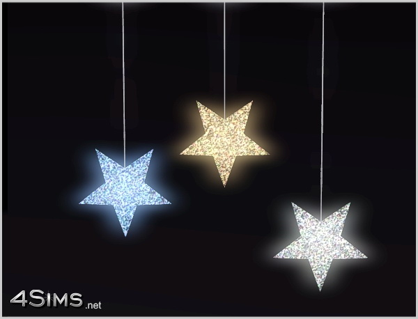 3 stars hanging ceiling light for Sims 3 by 4Sims