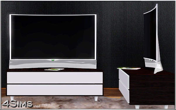 Glass Curved OLED TV for Sims 3 by 4Sims
